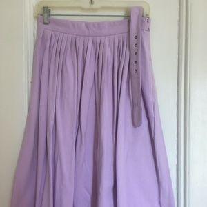 Eshakti Lavender Cotton Knit Skirt with Belt